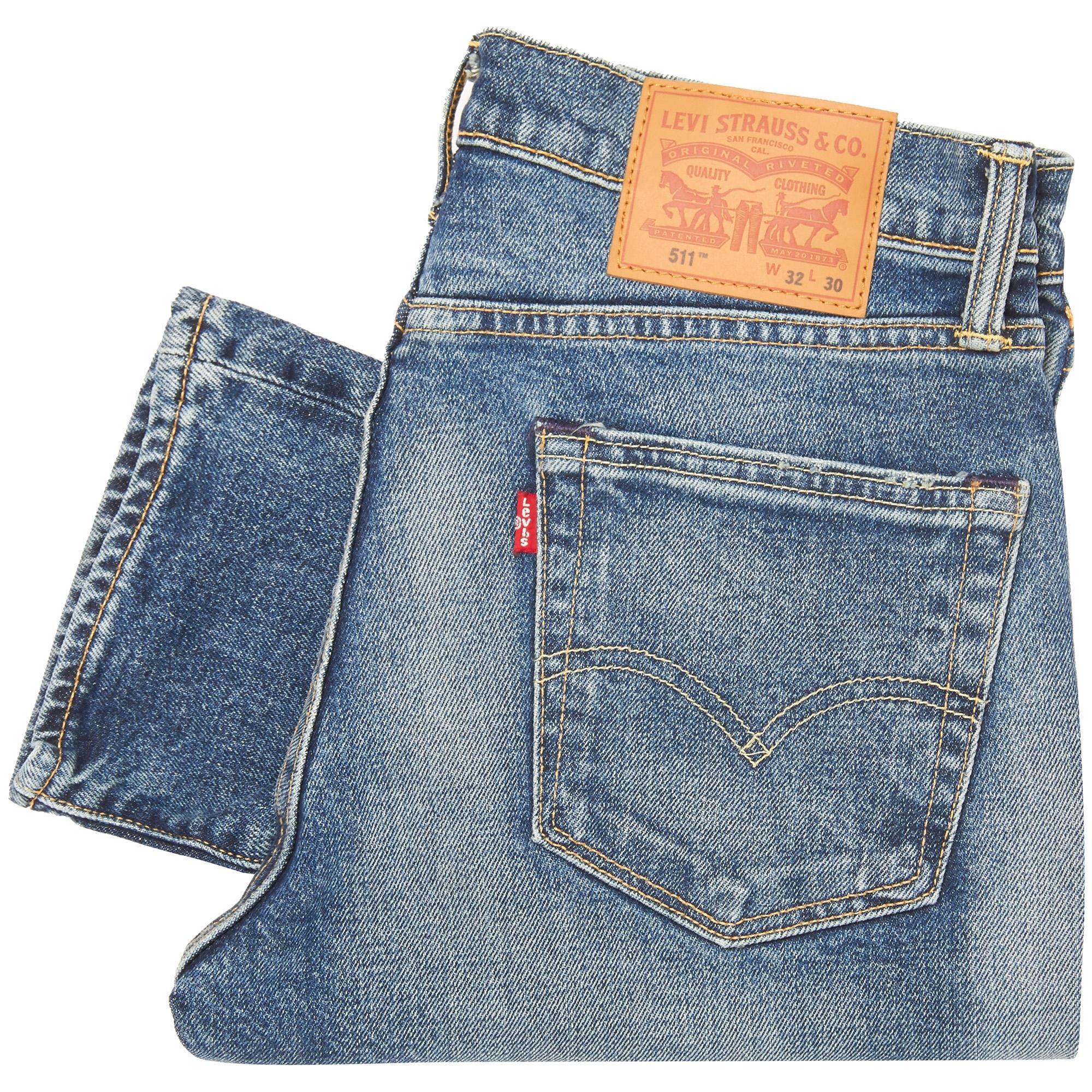 levi 39 s 511 slim fit jeans in blue for men lyst. Black Bedroom Furniture Sets. Home Design Ideas