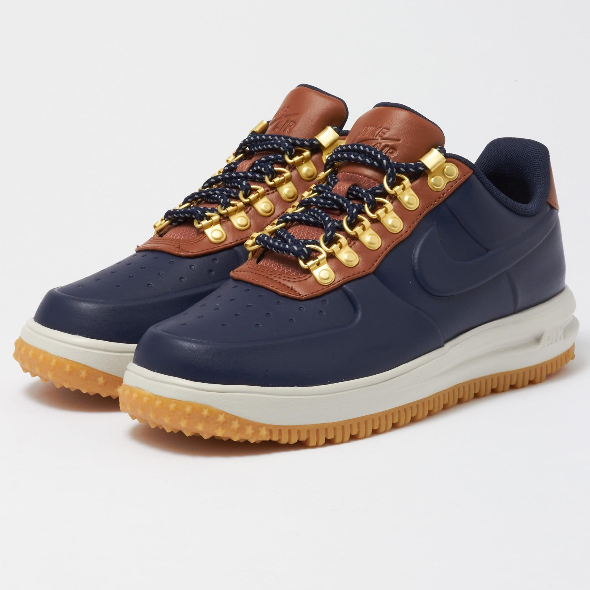 official photos ed29b 4bb48 Nike Lunar Force 1 Duckboot Low - Obsidian   Saddle Brown in Brown ...