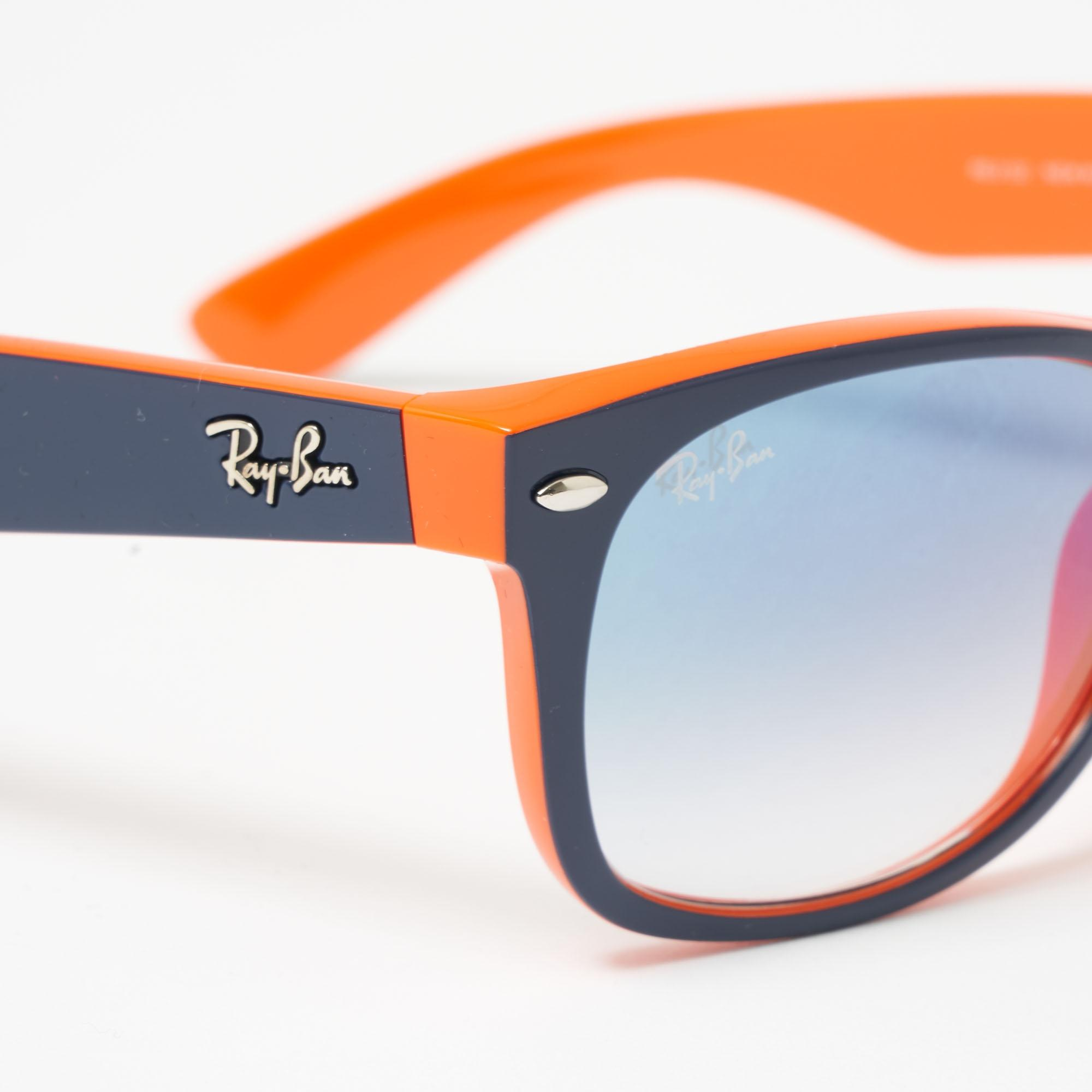 e2e96f9a78 Ray-Ban - New Wayfarer Colour Mix Blue Orange Sunglasses 52-145 0Rb2132.  View fullscreen
