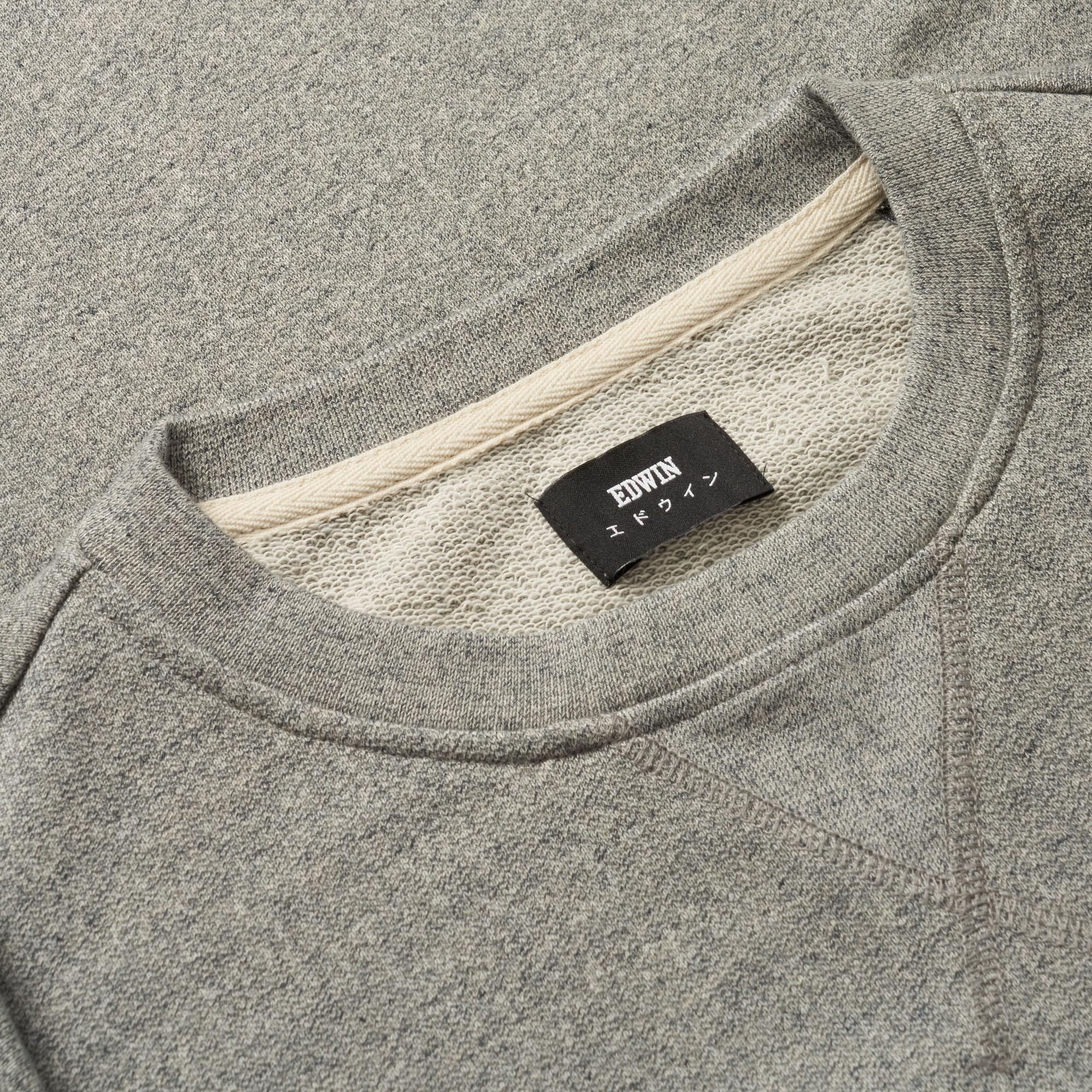 Edwin Cotton Mouline Grey Classic Crew Sweatshirt in Grey for Men