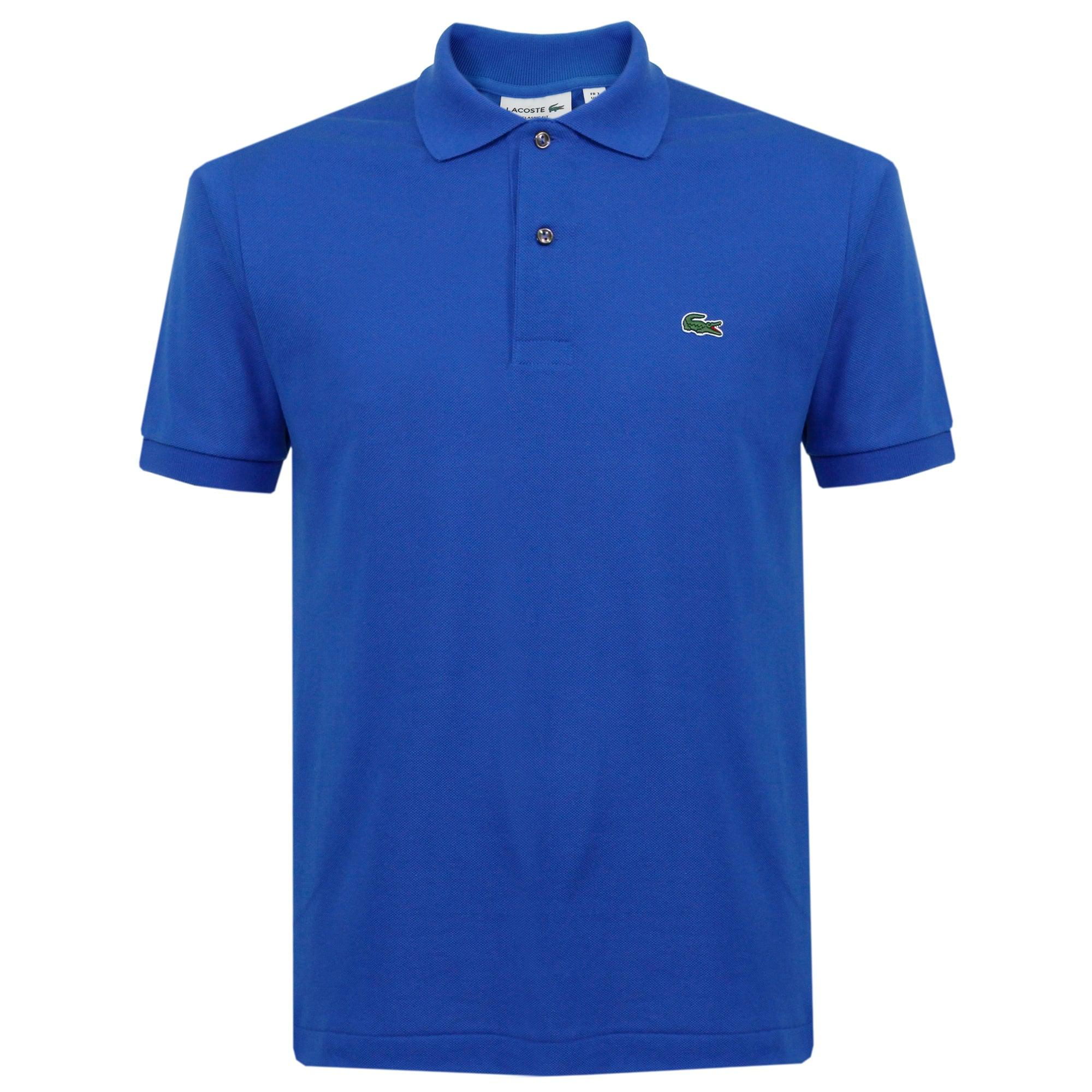 lacoste classic pique olympus blue polo shirt l1212 in blue for men lyst. Black Bedroom Furniture Sets. Home Design Ideas