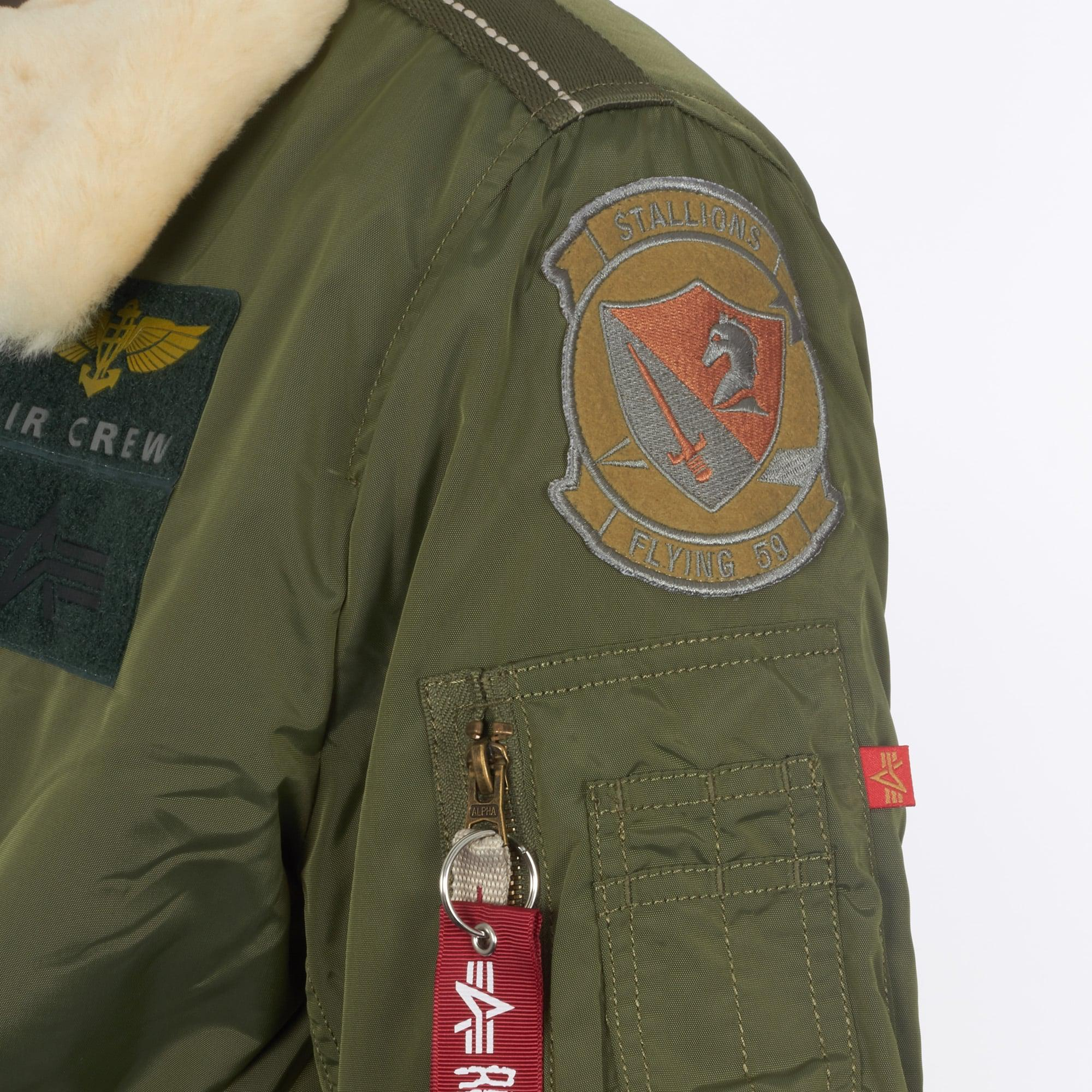 Alpha Industries Synthetic Injector 3 Patch Jacket in Green for Men