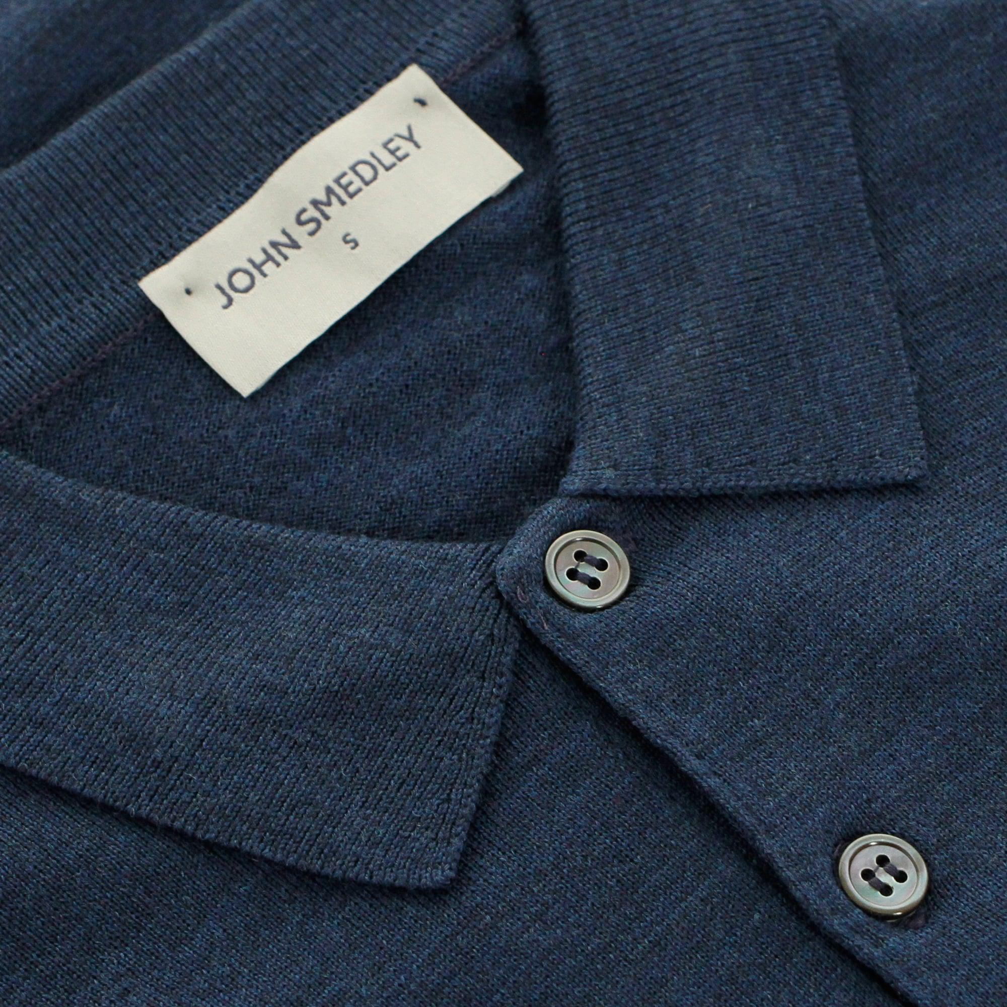 a2d2e4c82697 John Smedley - Blue Tyburn Indigo Wool Polo Shirt for Men - Lyst. View  fullscreen