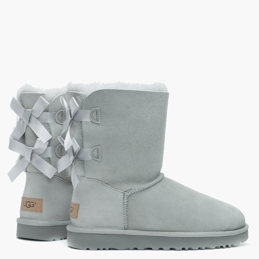 UGG Denim Bailey Bow Ii Grey Violet Twinface Boots in Grey