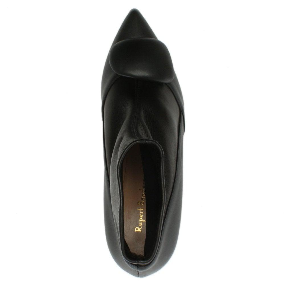 Rupert Sanderson Glynn Black Leather Ankle Boots