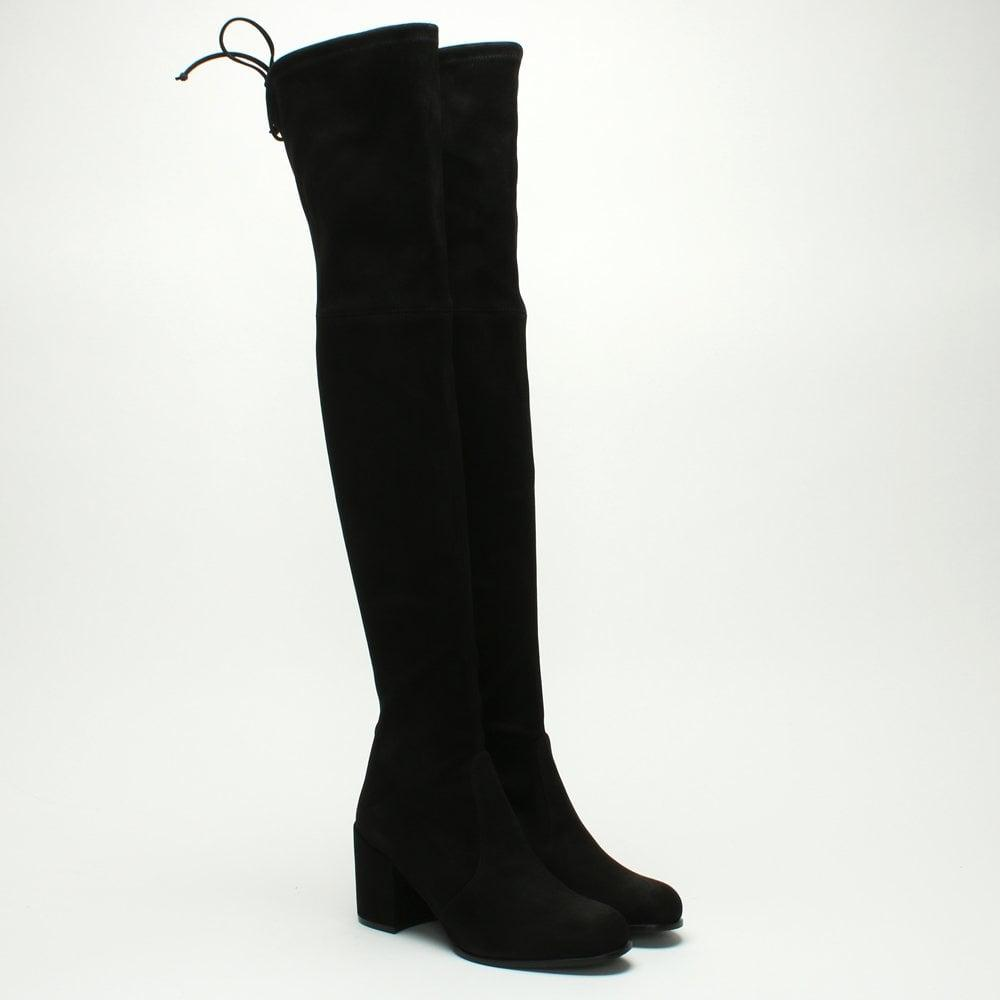 Daniel Footwear Tieland Black Suede Over The Knee Boots