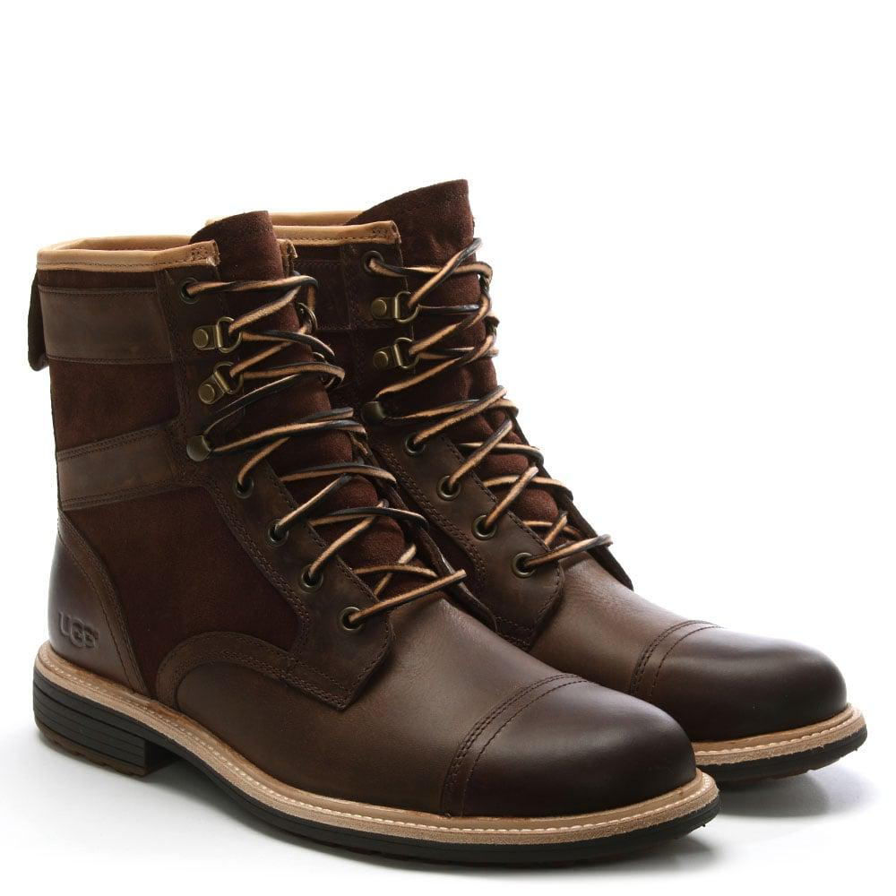 0d314ecb67a UGG Men'S Magnusson Grizzly Leather Lace Up Boots in Brown for Men ...