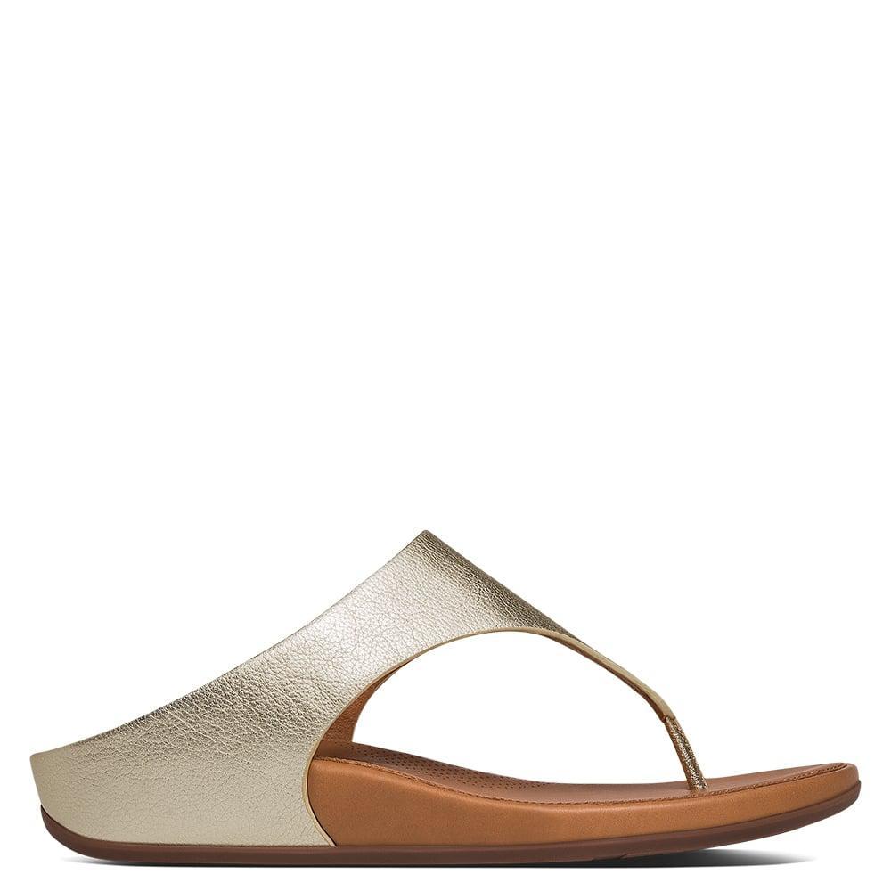 e4b2dd1530451 Fitflop Banda Gold Leather Toe Post Sandals in Metallic - Lyst