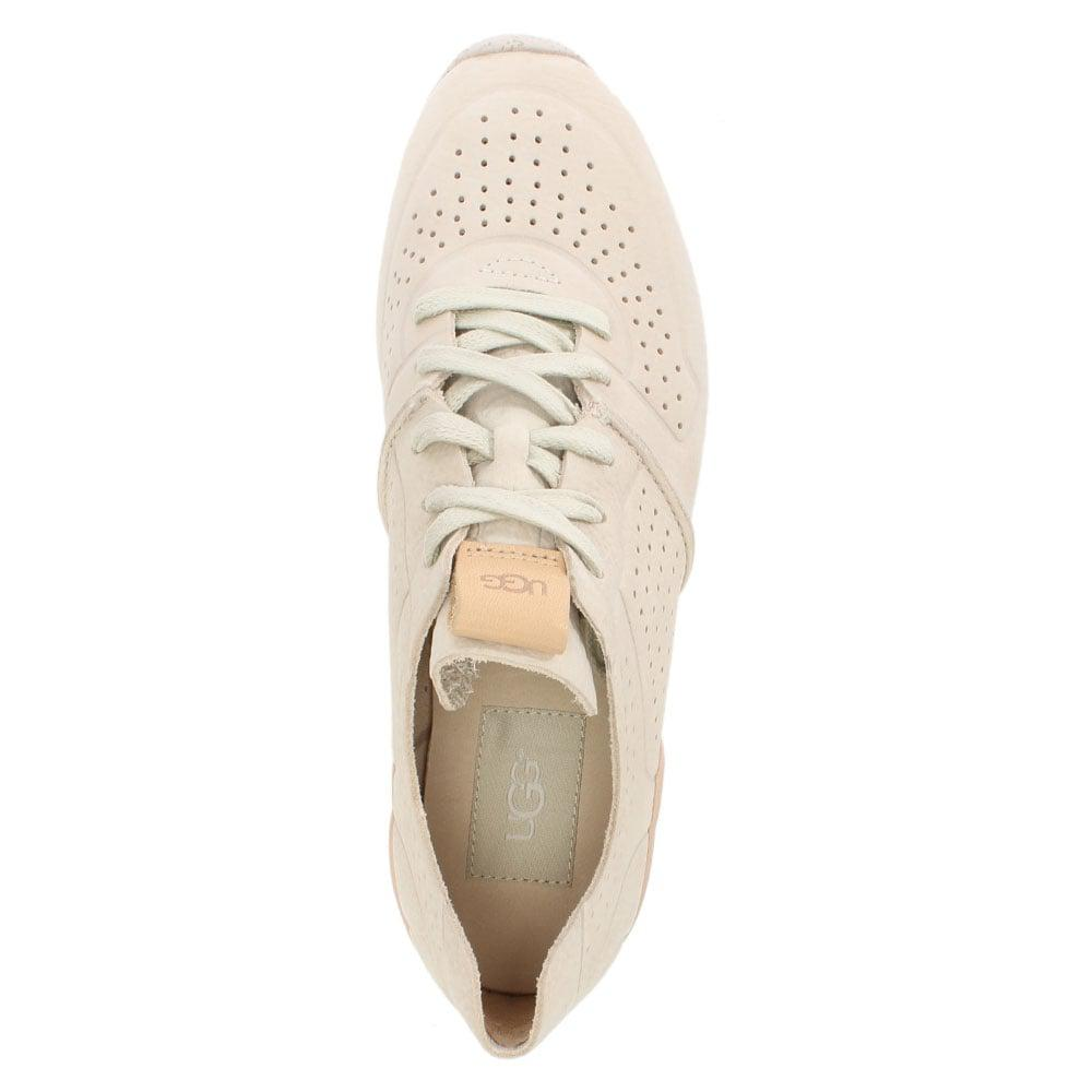 49371ef5fa3 Ugg Natural Tye Ceramic Leather Perforated Trainers