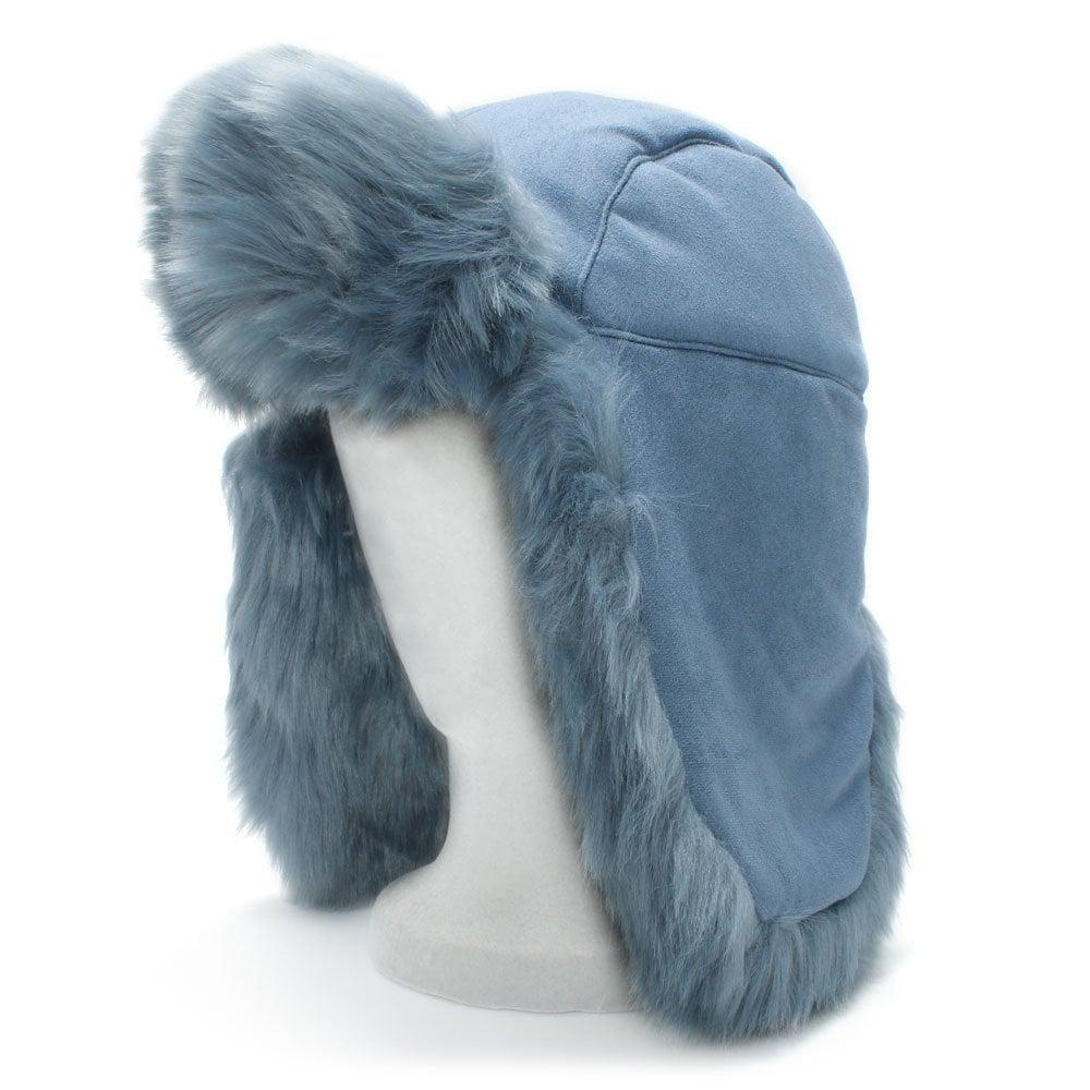 5fdbaecea44 Charlotte Simone Helmet Head Blue Faux Fur Trapper Hat in Blue - Lyst