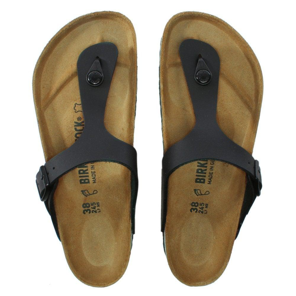 4e0698d4b8f Birkenstock - Gizeh Black Birko-flor Toe Post Sandals - Lyst. View  fullscreen