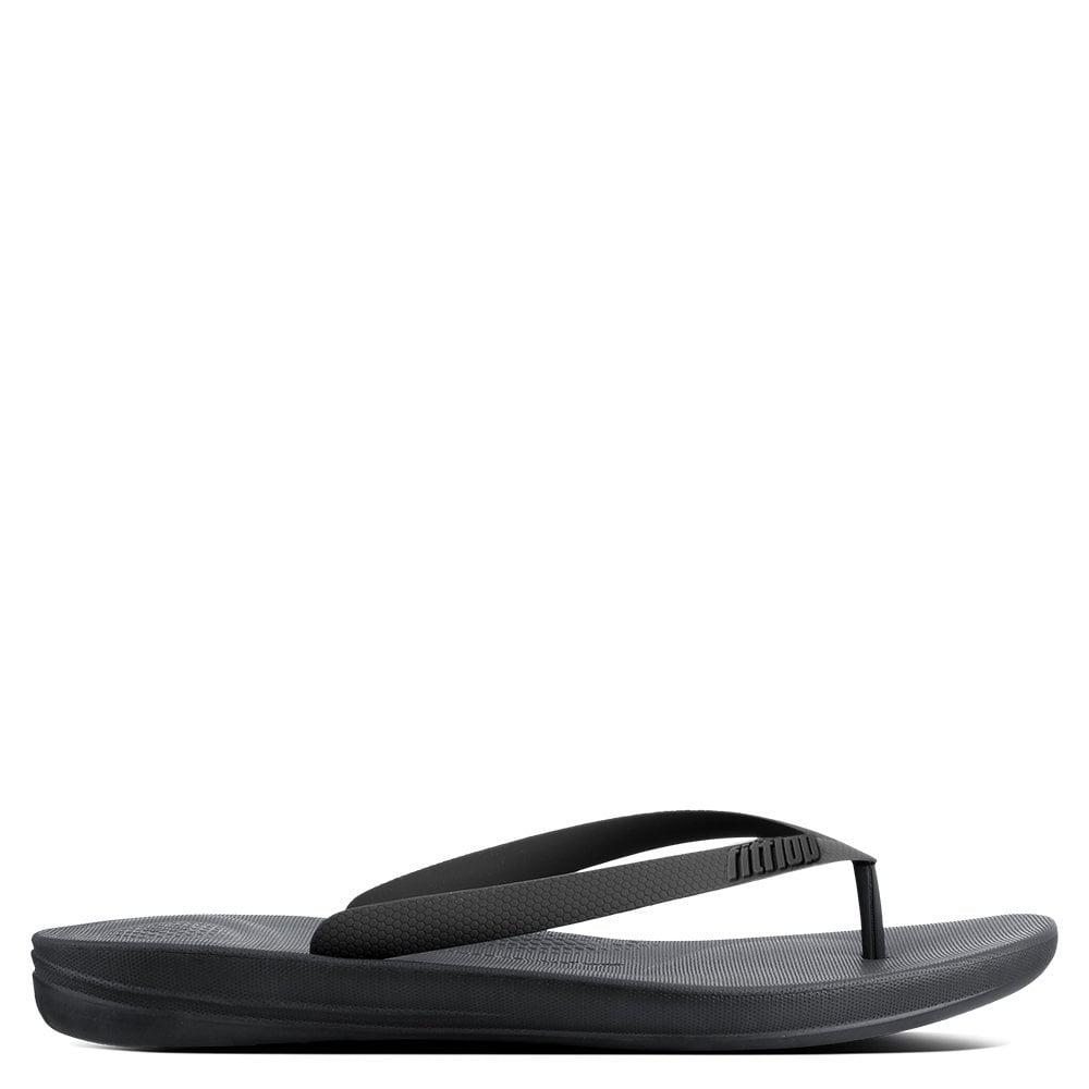 39b898c6b679 Lyst - Fitflop Men s Iqushion Charcoal Toe Post Flip Flops in Black ...