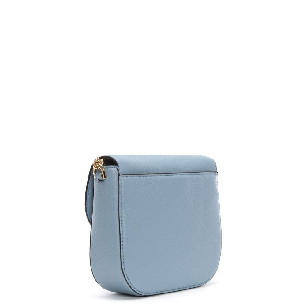a95eae3922f Michael Kors - Half Dome Pale Blue Leather Cross-body Bag - Lyst. View  fullscreen