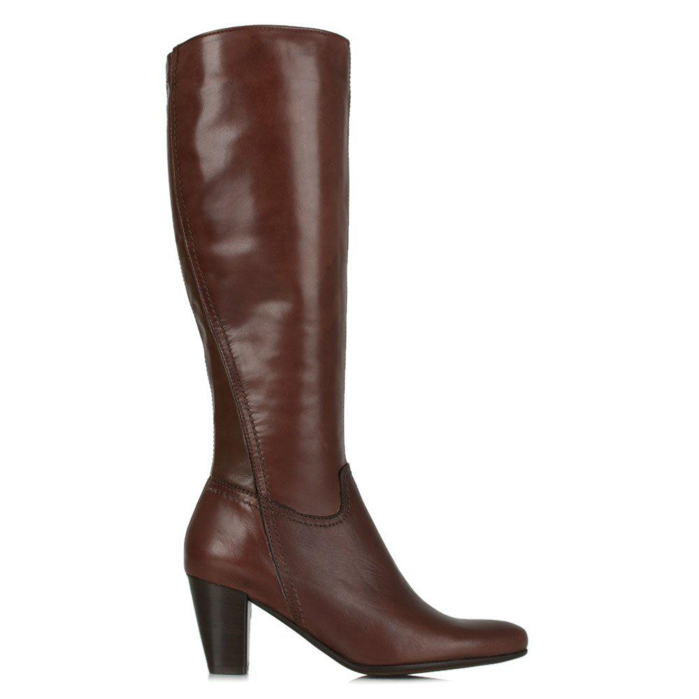 Lamica Acimal 81 Burgundy Leather Knee High Boot In Brown
