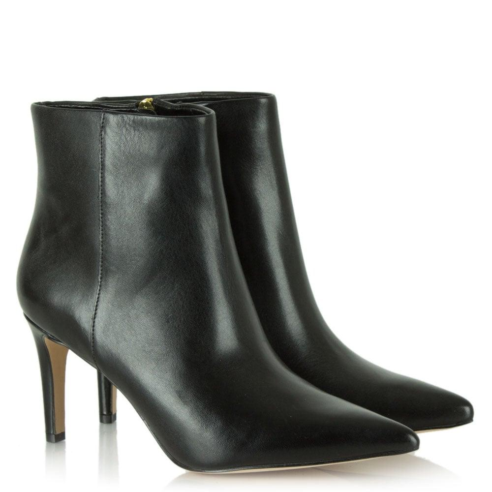 Sam Edelman Karen Black Leather Pointed Toe Ankle Boot
