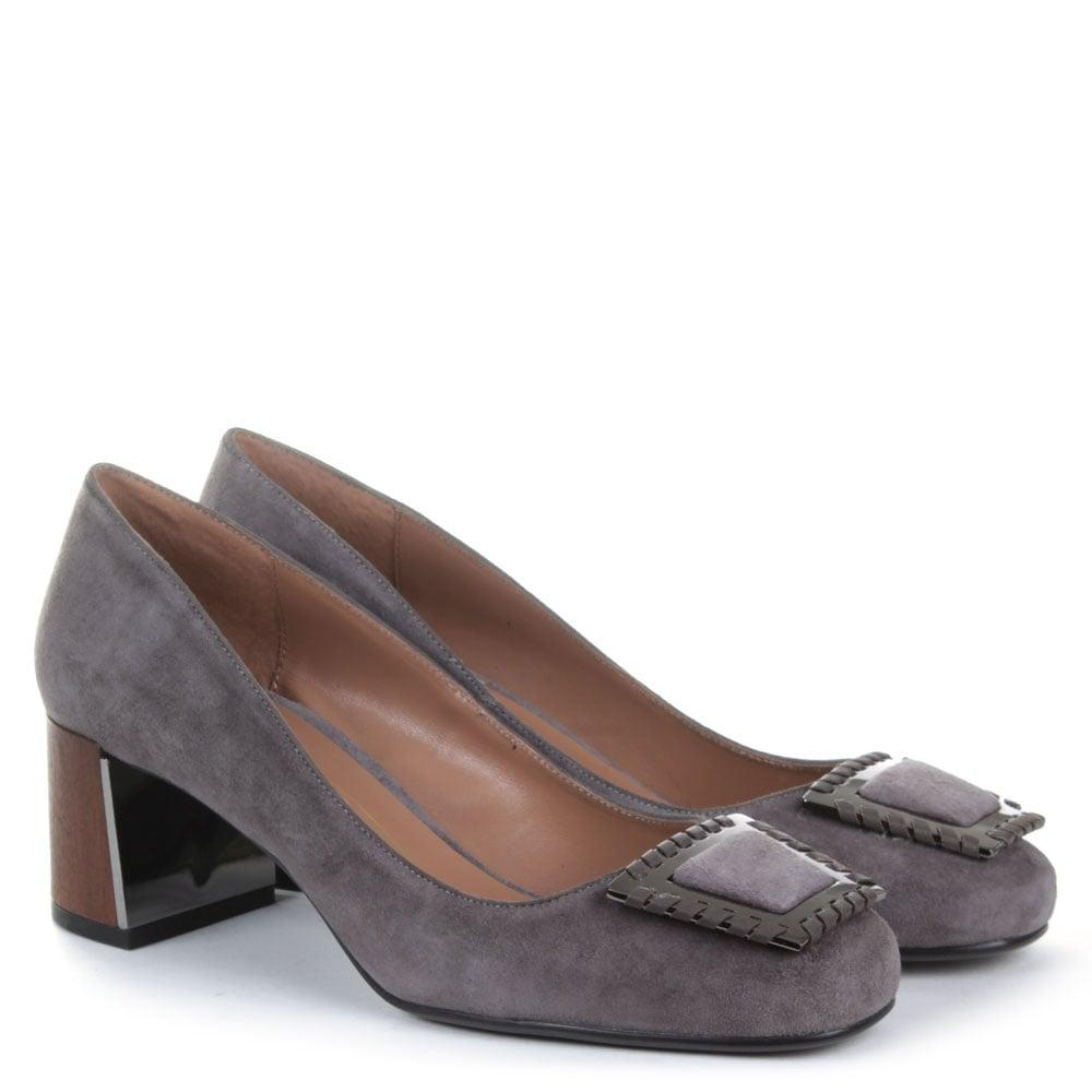 Grey Platform Court Shoes