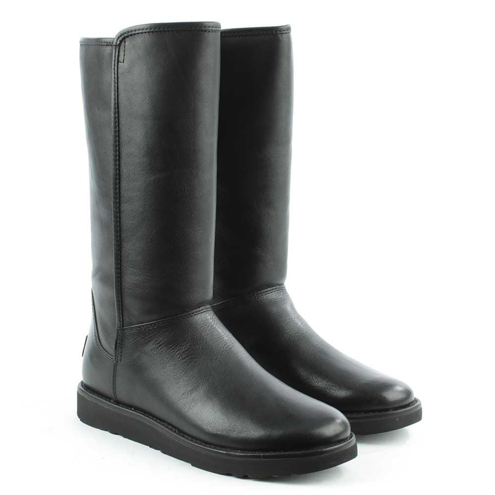 UGG Abree Nero Leather Twinfaced Calf Boot in Black Leather (Black)
