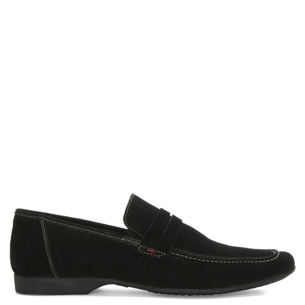 Banana Republic Black Suede Slip On Shoes