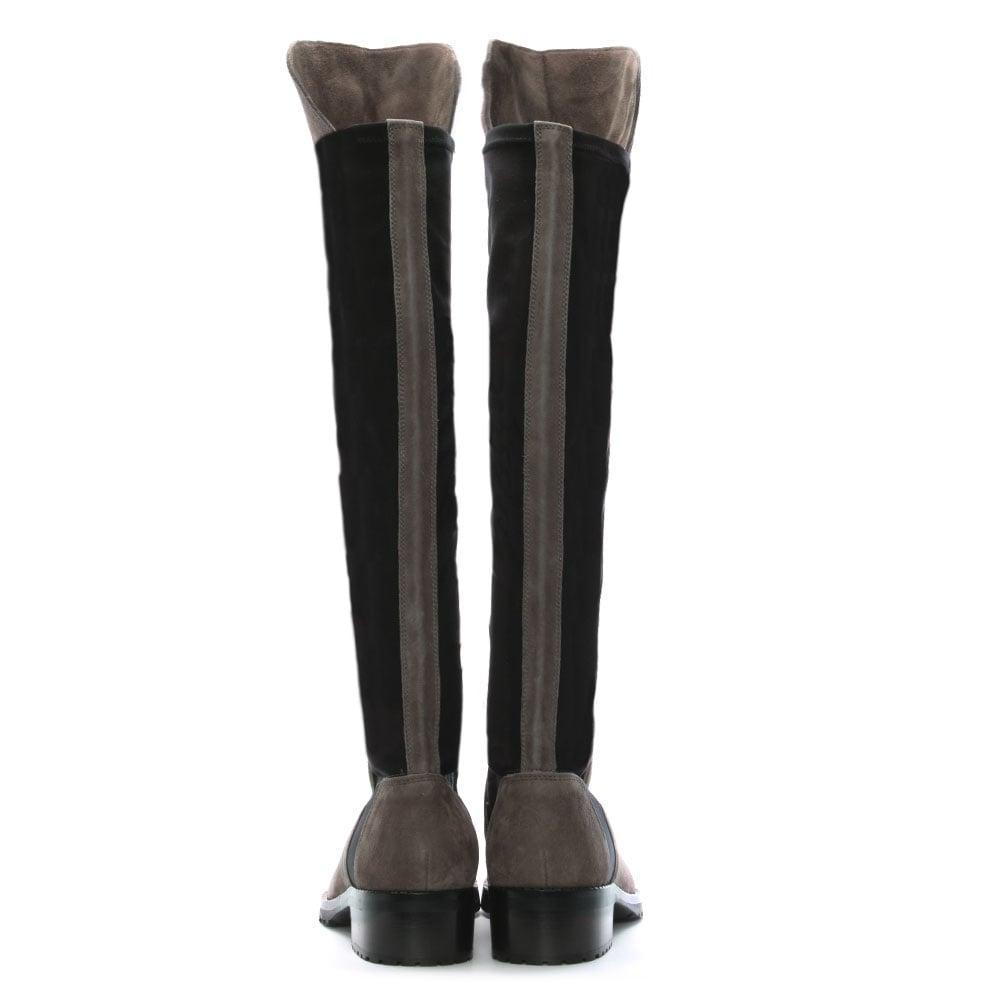 Kennel & Schmenger Grey Suede 41 24160 Women'S Flat Knee Boot in Grey