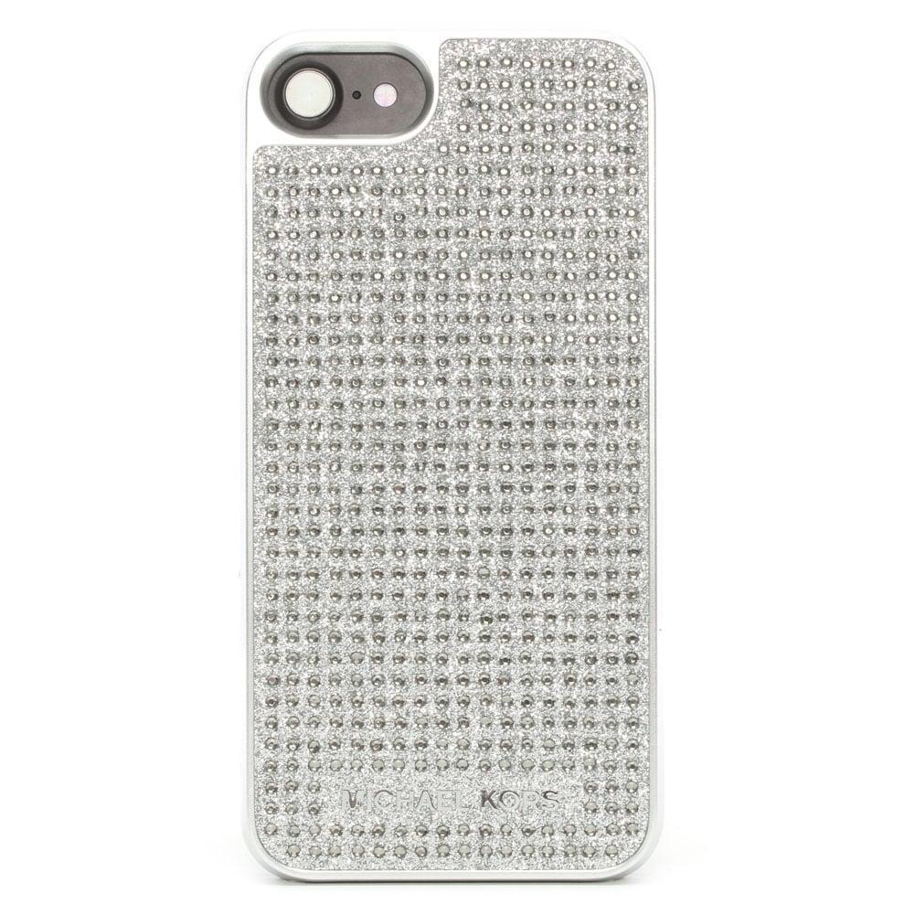 michael kors electronic novelty silver jewel iphone 7 case. Black Bedroom Furniture Sets. Home Design Ideas