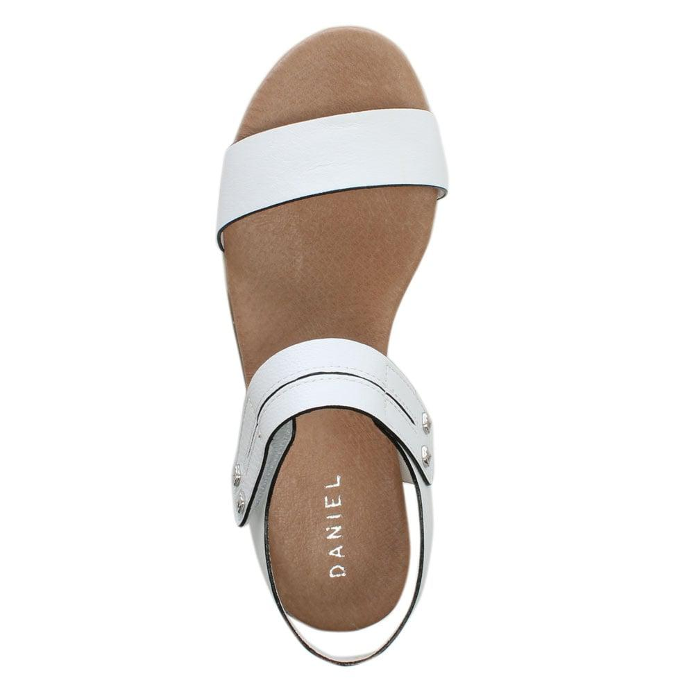 1770e58ef25 Daniel - Likely White Leather Low Wedge Sandals - Lyst. View fullscreen