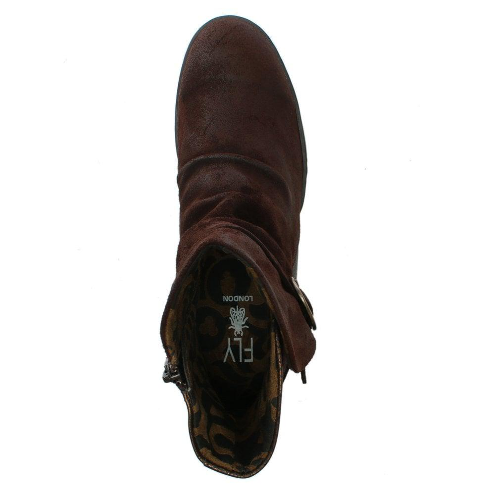 16b2fc657c8f Lyst - Fly London Cimp Brown Suede Contrast Ankle Boots in Brown