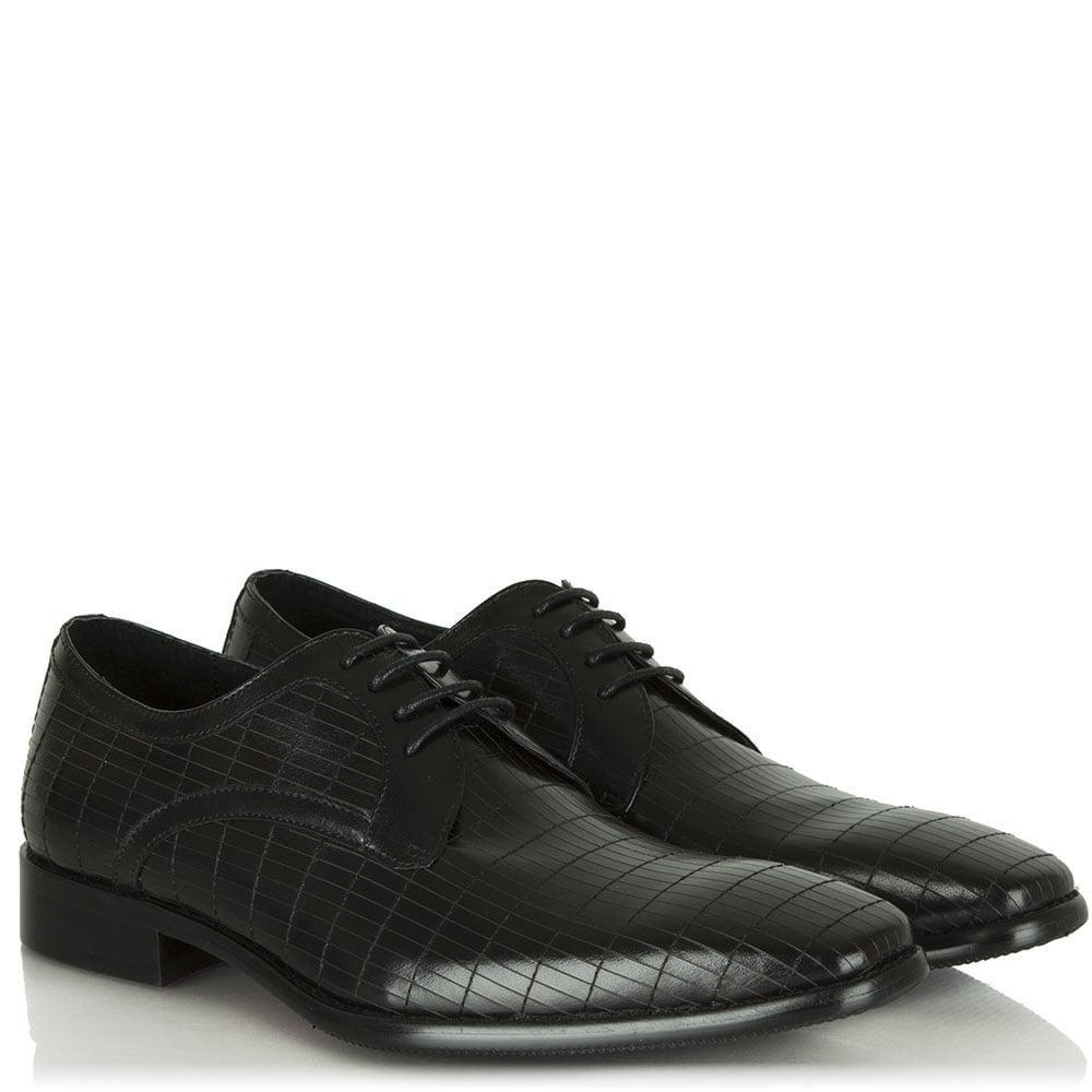 Daniel Black Leather Lytchett Lace Up for Men