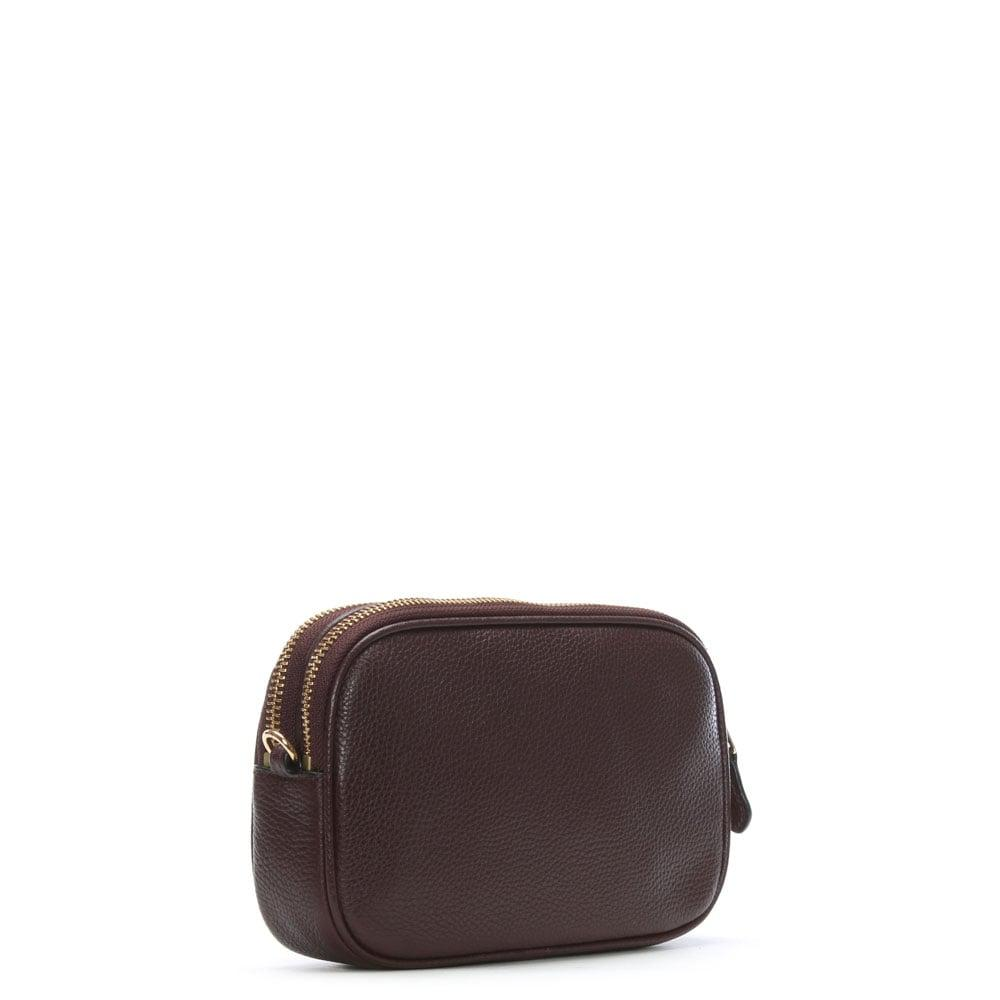 d6d2c20b5e Coach Polished Oxblood Pebbled Leather Cross-Body Clutch Bag in ...