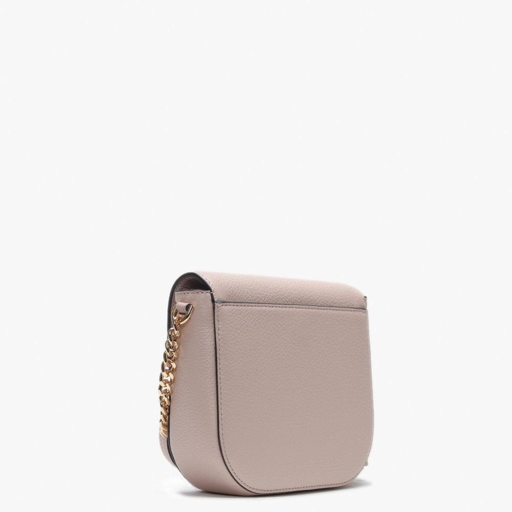 c02f5c9dd07c Michael Kors - Half Dome Soft Pink Pebbled Leather Cross-body Bag - Lyst.  View fullscreen