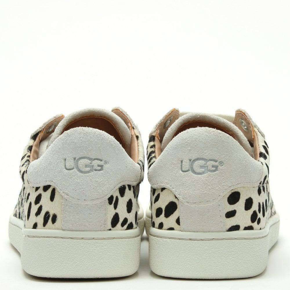 620a8bd5c16 UGG Milo Exotic White Calf Hair Lace Up Trainers in White - Lyst