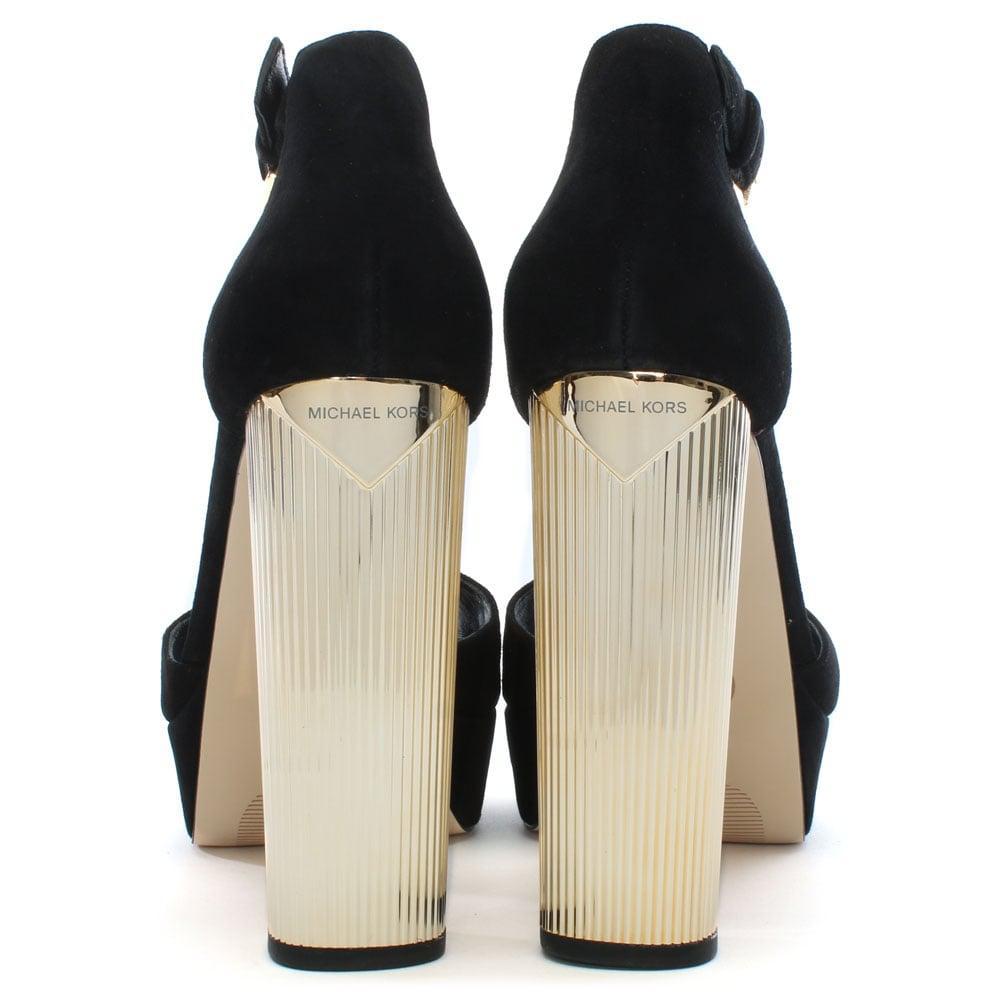 Black Suede Platform Sandals - Lyst