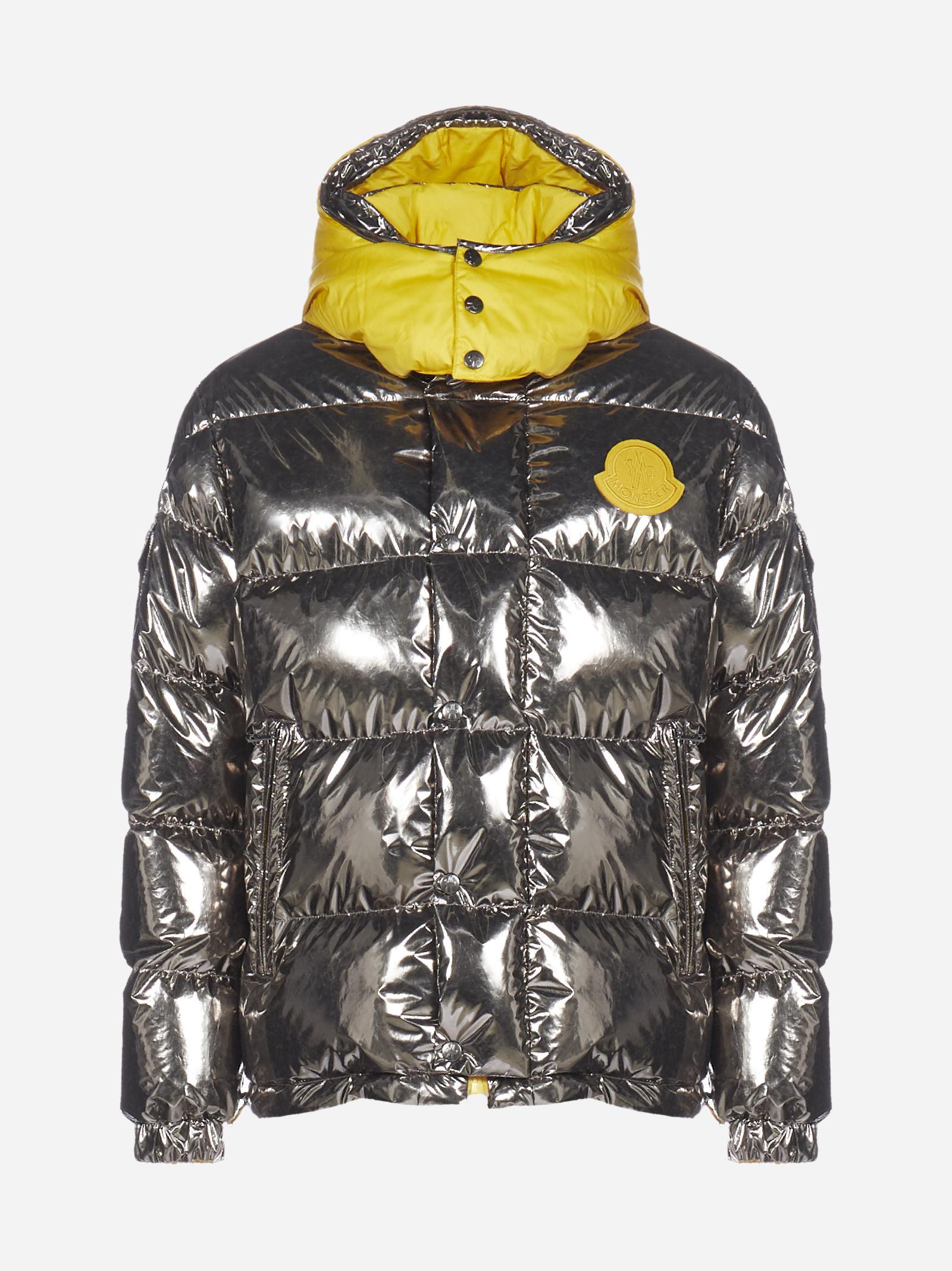 Prele Reversible Glossy Nylon And Cotton Down Jacket