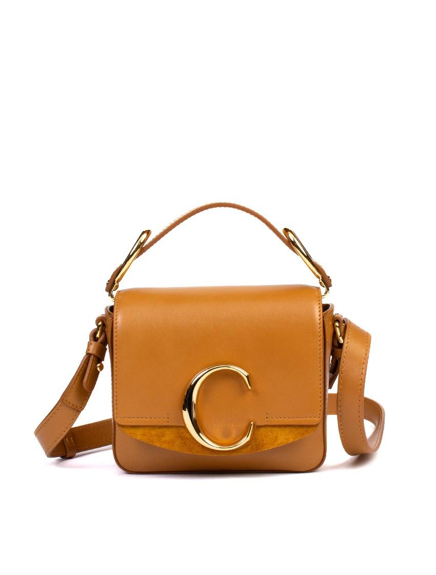 69469a1293 Chloé Mini Chloé C Bag in Brown - Lyst