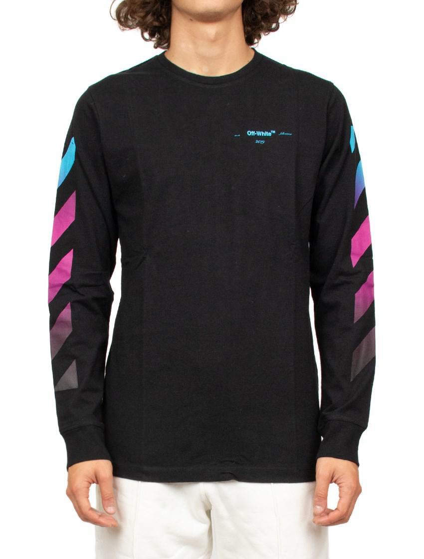 e3be17384be16c Off-White C O Virgil Abloh  gradient  T-shirt in Black for Men - Lyst
