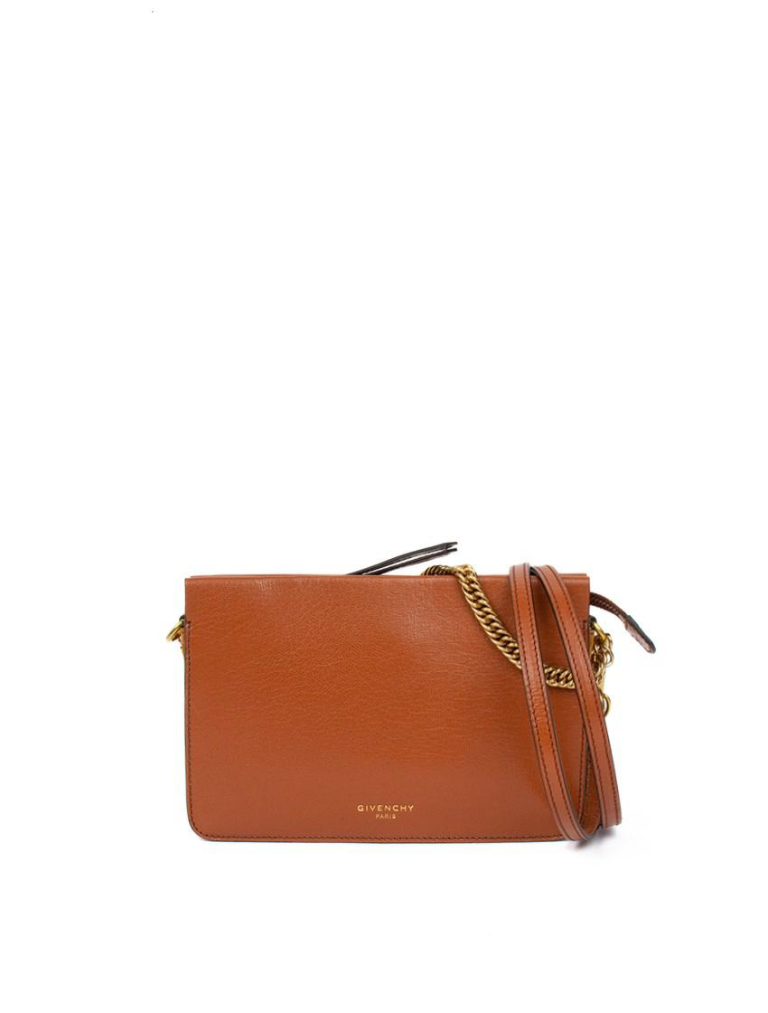 98dea715e6f35 Givenchy - Brown Small Gv Cross3 Leather Shoulder Bag - Lyst. View  fullscreen