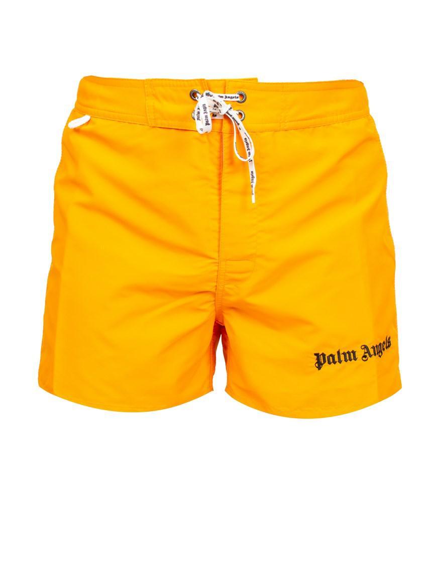 3ac3b7d1a9 Palm Angels 'sundek Iconic' Swim Shorts in Yellow for Men - Lyst
