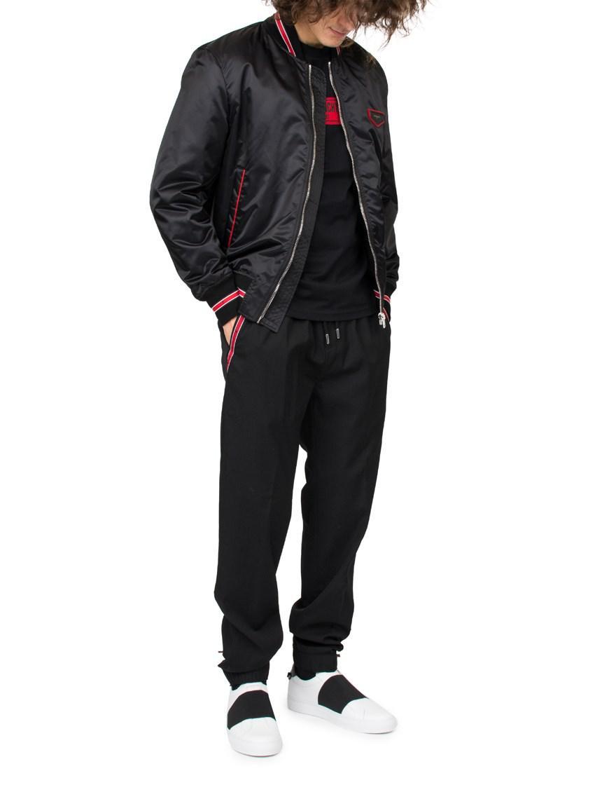 Givenchy Logo Bomber Jacket in Black for Men