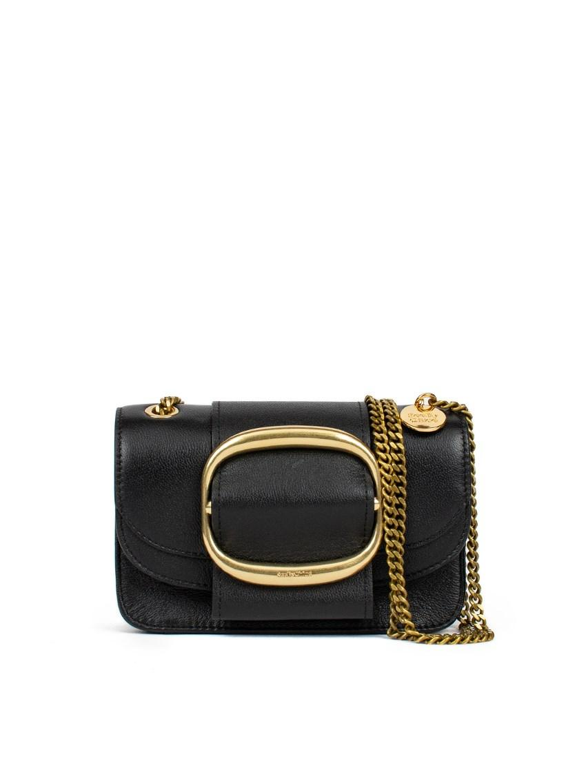 b423bfb24a05 See By Chloé Small Hopper Cross-body Bag in Black - Lyst