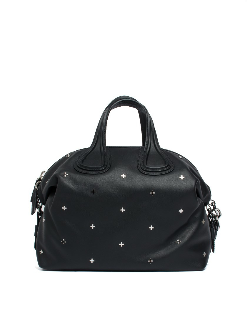 Givenchy Leather Medium Nightingale Metal Cross Bag