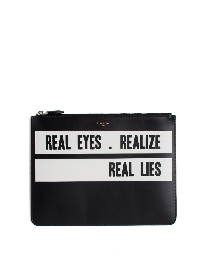 Lyst Givenchy Real Eyes Realize Real Lies Clutch Bag
