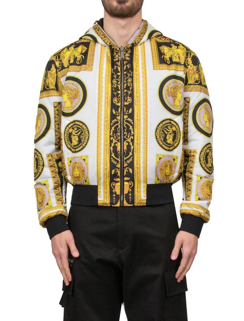 9ce3c2720 Versace Multicolor Baroque Print Bomber Jacket for men