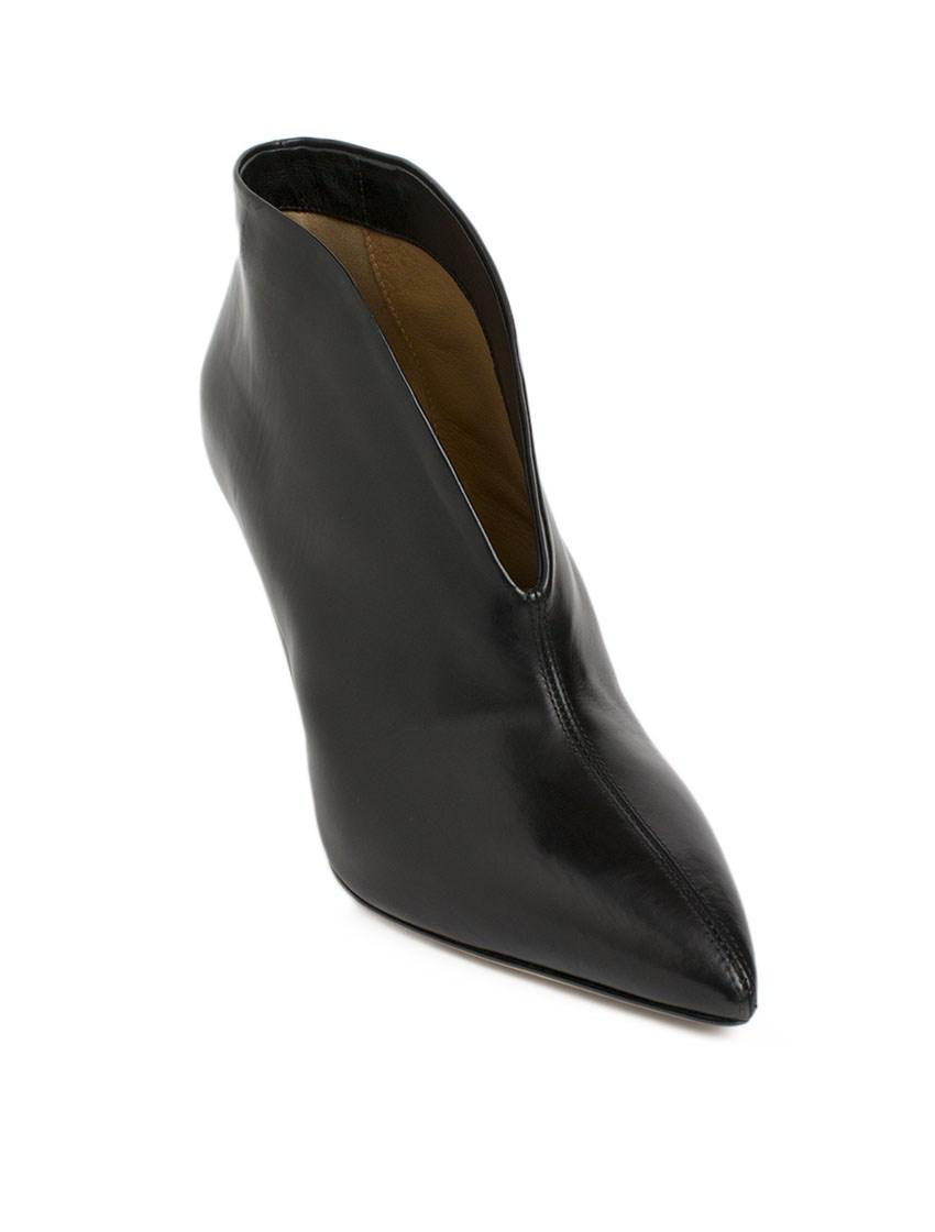 Isabel Marant Adenn Leather Ankle Boots in Black