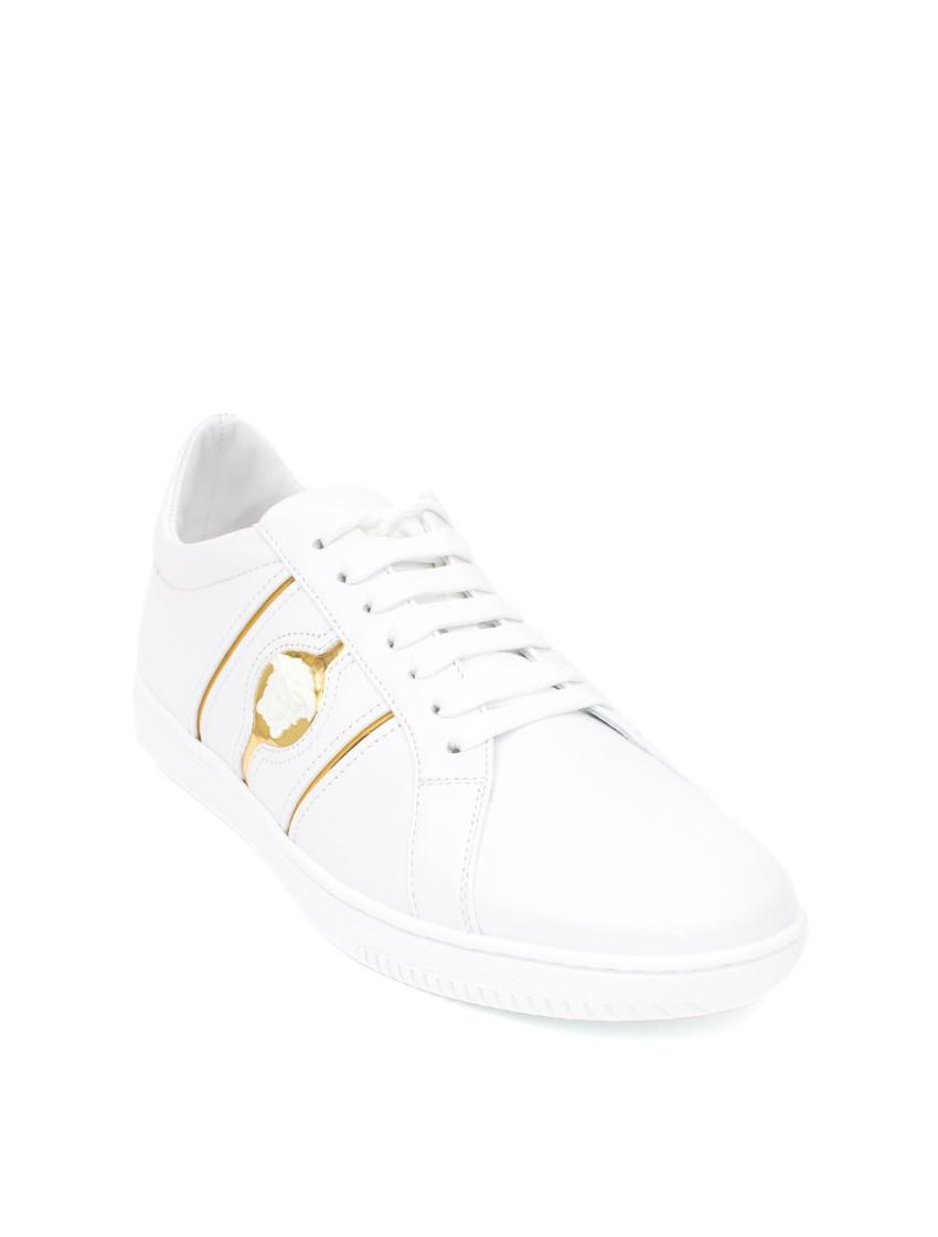 Versace Leather Sneakers in White
