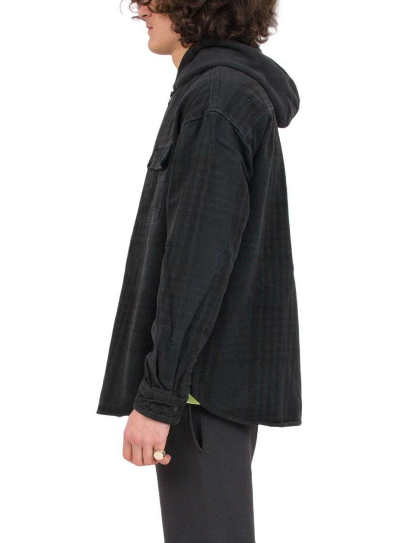 Yeezy Cotton Hoodie Jacket in Black for Men