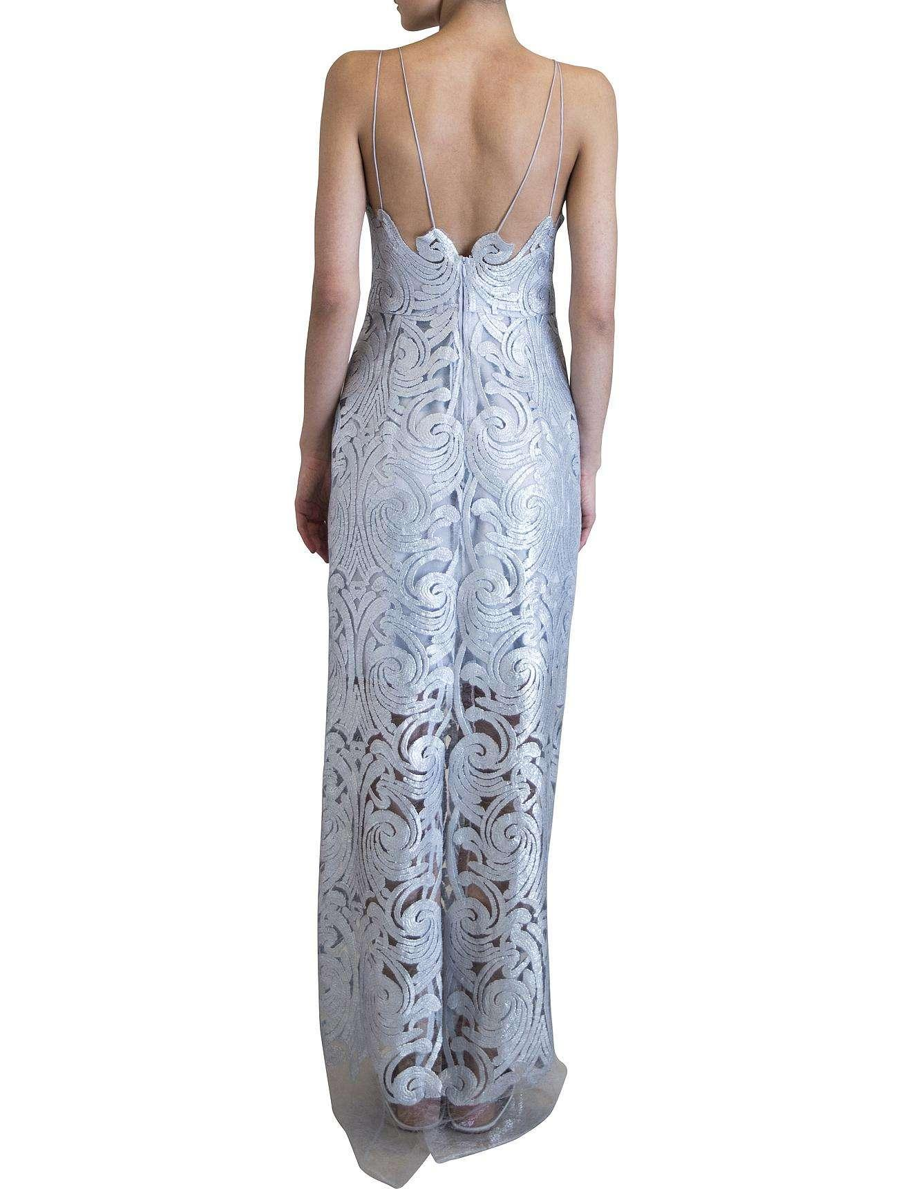 Carla Zampatti Pale Blue Lace Versailles Lace Gown