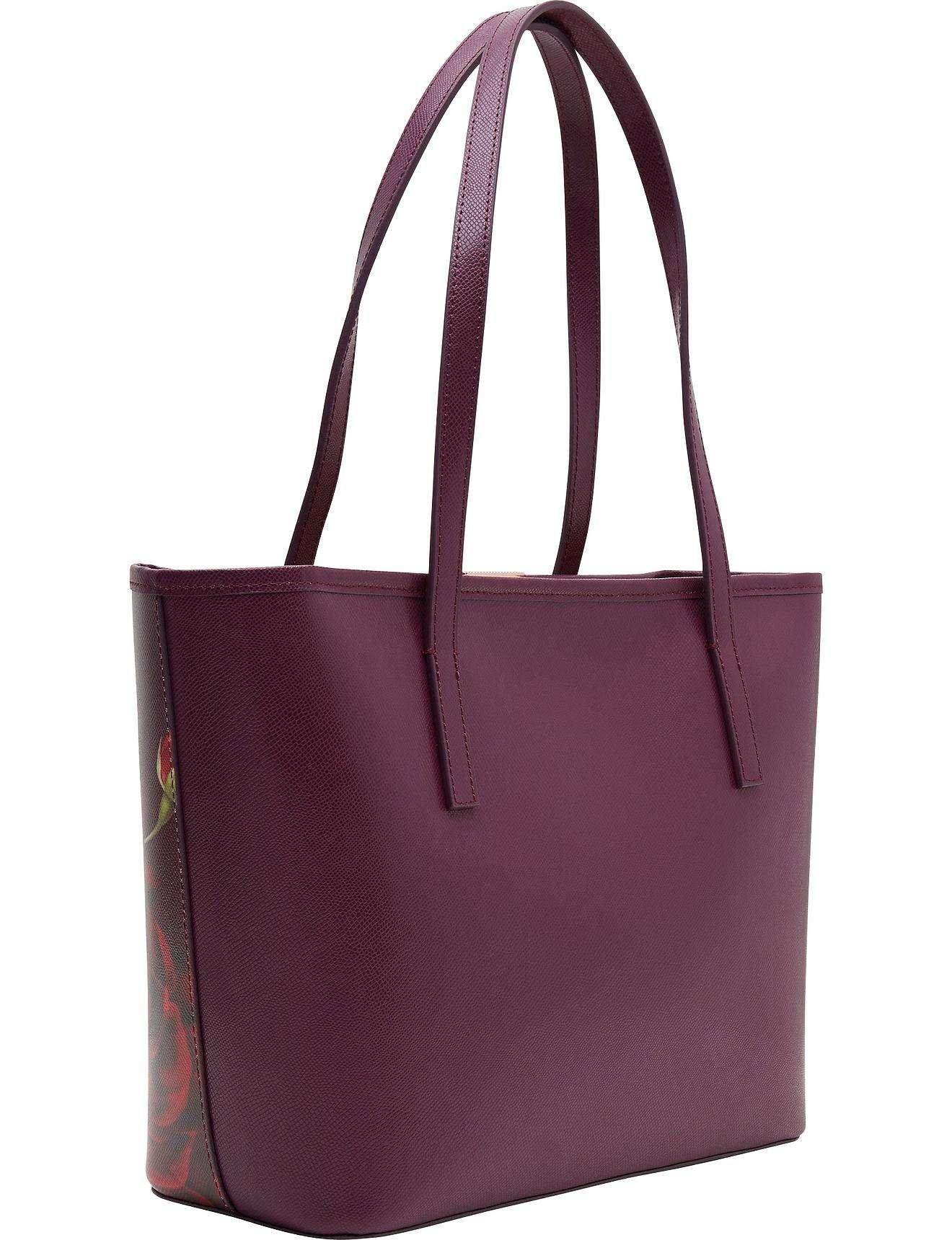 2cfe47d60fd0 Ted Baker Maura Juxtaposed Rose Small Leather Shopper - Lyst