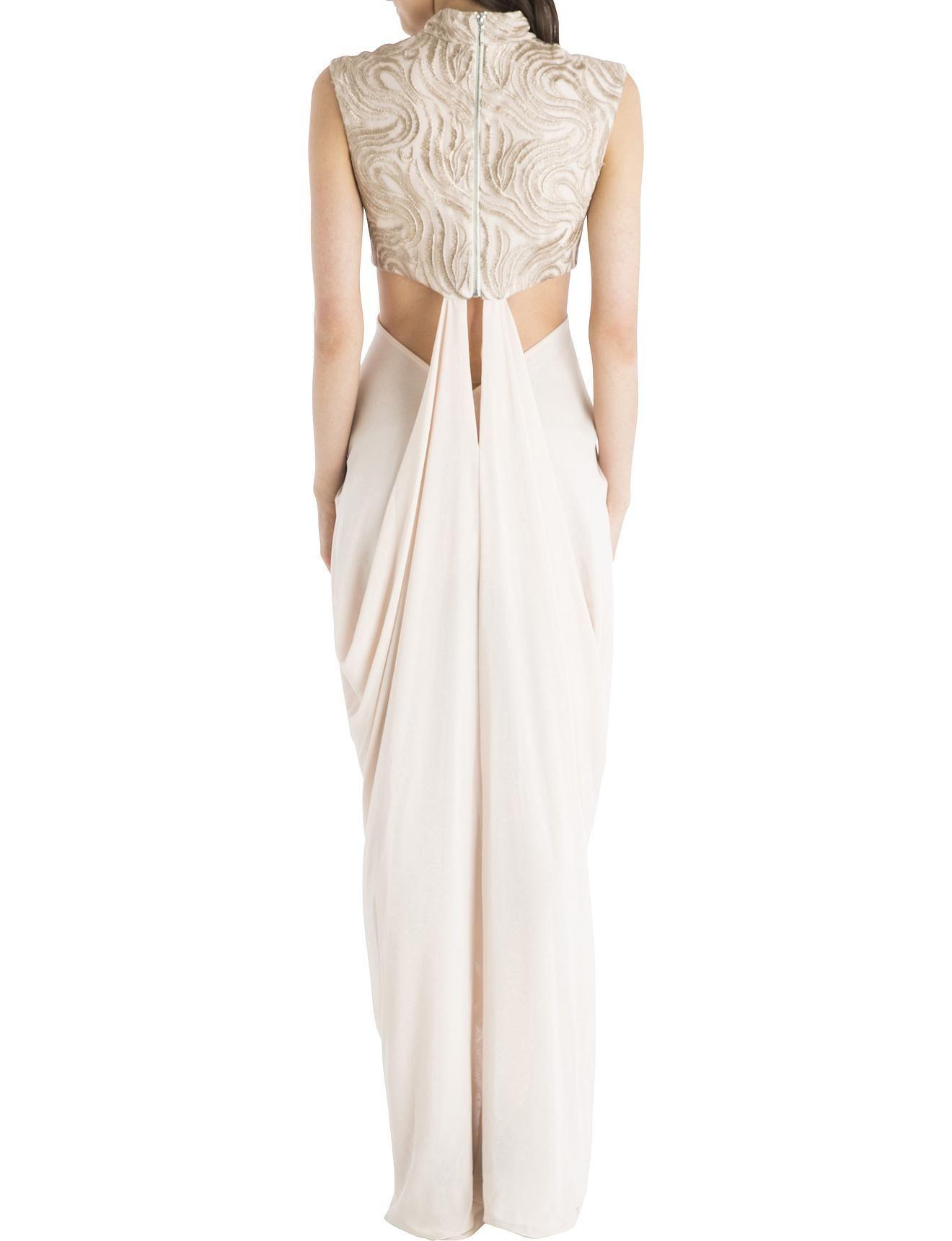 Carla Zampatti Pink Blush Vintage Lace Opera Gown