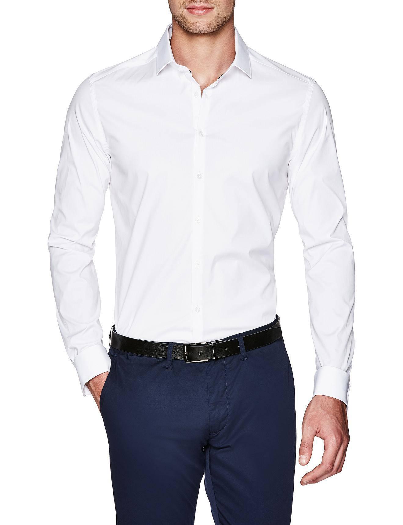 Politix Garreth Tapered Fit Dress Shirt In White For Men Lyst