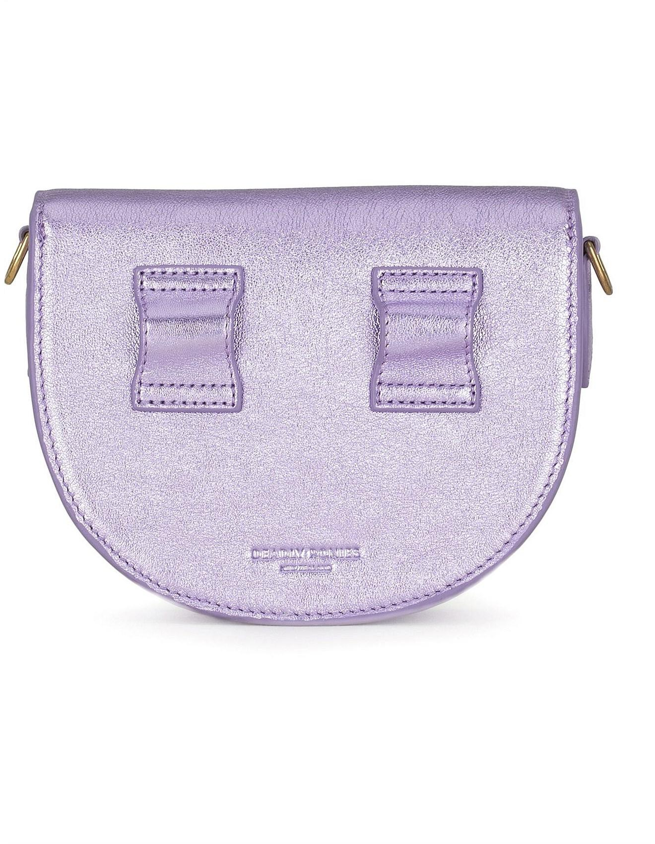 Deadly Ponies Mr Mini Woolf - Metallic Leather Strap Belt Bag in Purple -  Lyst 47b523763af28