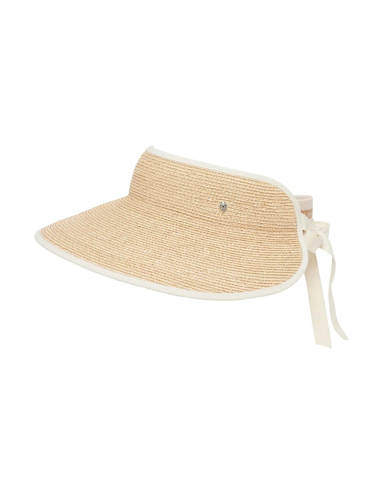 b45f2b16be7a8 Helen Kaminski Mita Fine Braid Visor in Natural - Save 20% - Lyst